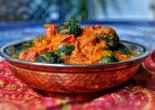 spinach kofta in tomato gravy