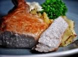 succulent brined pork cutlet