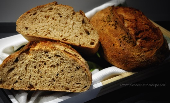 olive oil and fennel seed sourdough spelt bread