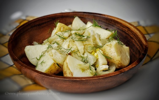 Olive oil braised potato and fennel