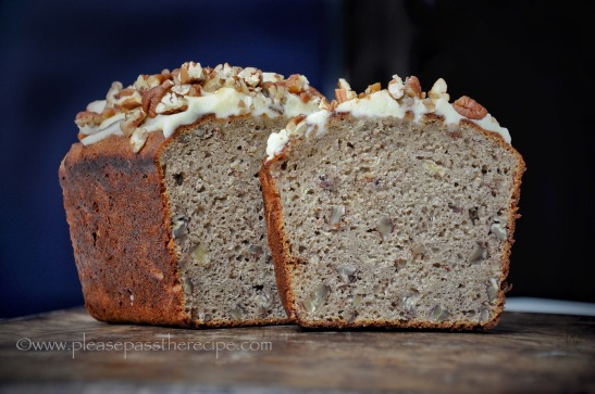 Buckwheat Banana Cake with Pecans and Maple Syrup