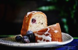 hazelnut buckwheat and blueberry cake