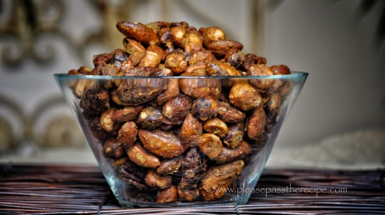 Crunchy spiced beer nuts
