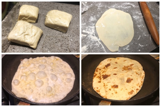 making delicious flaky sourdough flatbreads