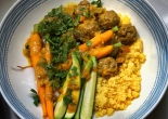 Lamb Kofta and Carrot Tagine