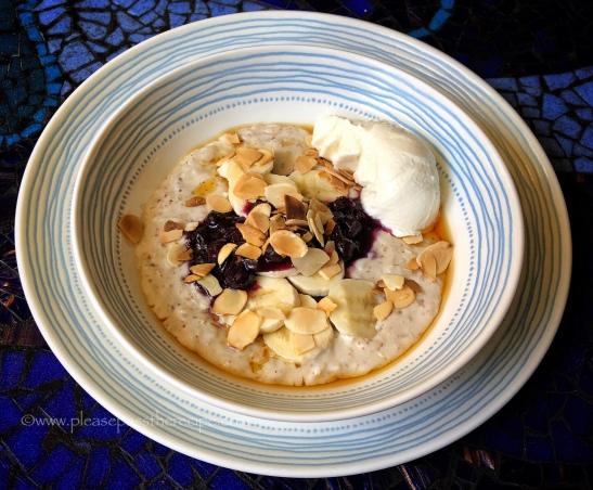 Almond Breakfast Risotto