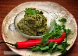 coriander and peanut paste