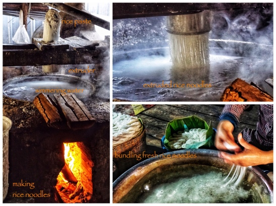 the manufacture of rice noodles