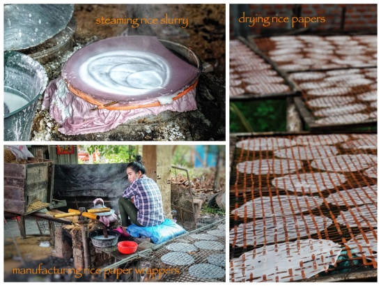 the manufacture of rice paper wrappers