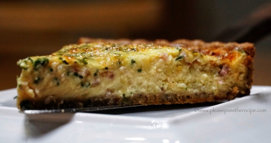 bacon cheese chive tart